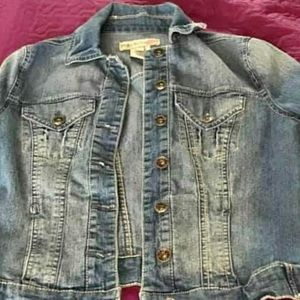 Paris Blues Denim Jacket Junior Size Small